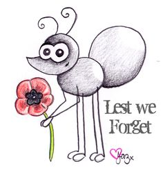 Lest We Forget xxx Thank you to all the known & unknown soldiers who gave their lives so we could live ours xxx