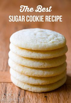 The BEST Sugar Cookie Recipe Ever! Classic perfection on ASpicyPerspective.com #sugarcookies