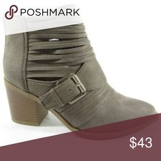 Holiday Sale 💕 Taupe Strap Booties Adorable & Fun Multi Strap Taupe Boots with buckle detail!  💕 On sale until end of day on Black Friday! 💕 Boutique  Shoes Ankle Boots & Booties