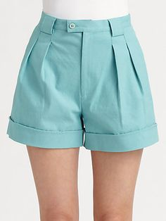 I had these in three different colors back in 1993! 😉😉😉    Rebecca Minkoff - High-Waisted City Shorts - Saks.com Shorts Outfits Women, Edgy Outfits, Short Outfits, Short Dresses, Summer Outfits, City Shorts, Pants For Women, Clothes For Women, Chor