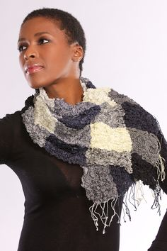 Our Bubble Silk Scarf is hand-woven using the finest natural silk in a beautiful ruche weave.