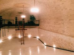 sunnyruth. // this is an indoor, underground pool.