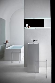 Love this slick design, but too austere for a space that's supposed to be relaxing... maybe as an art gallery Kartell by Laufen: Bathroom Collection by Ludovica + Roberto Palomba in home furnishings  Category
