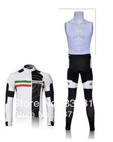 2011 giordana thermal Cycling winter fleece Jersey Long Sleeve and Cycling BIb Pants cycling clothing hot sale!