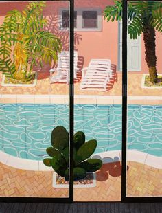 Daniel Heidkamp's Contemporary Impressionism David Hockney Artist, David Hockney Paintings, Surface Design, Encaustic Painting, Chalk Pastels, Linocut Prints, Contemporary Paintings, Painting Inspiration, Pop Art