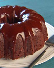 Chocolate Bundt Cake:  This will be my birthday cake this year!  -Kimmy  Mix all Ingredients together: ·       1 box devils food cake mix (Pillsbury) ·       1 large box (6 oz) instant chocolate pudding ·       1/2 cup water ·       1/2 cup oil (canola) ·       8 oz sour cream ·       4 eggs ·       12 oz pkg chocolate chips.  Pour into bundt pan that's sprayed with Pam. Bake at 350 50 minutes. Drizzle w/your choice of frosting.