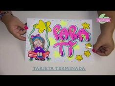 Tarjetas Diy, Diy And Crafts, Scrap, Banner, Lettering, Diana, Youtube, Alphabet, Drawing Lessons