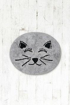 Cat Bath Mat in Grey