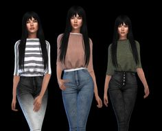 Maddie Sweater at Leo Sims Sims 4 Cas, Sims 1, Teen Girl Outfits, Outfits For Teens, Sims 4 Dresses, Sims 4 Clothing, Sims Mods, Sims 4 Update, Poses