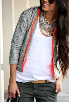 Finish off basics with a killer statement necklace