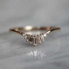 Nature Inspired Moissanite Engagement Ring Set Rose Gold Engagement Rings Branch and Wedding Moissanite Rings - Fine Jewelry Ideas Rose Gold Engagement Ring, Diamond Wedding Rings, Vintage Engagement Rings, Wedding Ring Bands, Solitaire Engagement, Baguette Engagement Ring, Baguette Ring, Baguette Diamond Rings, White Gold Rings