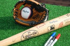 Baseball Party Ideas, Baseball Party, baseball birthday party, baseball bat, autographs, activities  - Image courtesy of Stephanie Frazier G...