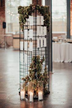 Urban Industrial Luxe Wedding - All For Decoration Marie's Wedding, Wedding Signage, Wedding Ideas, Trendy Wedding, Modern Wedding Decorations, Moss Wedding Decor, Wedding Ceremony, Unity Ceremony, Wedding Inspiration