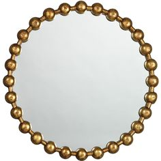 Jamie Young Ball Chain Mirror (¥50,785) ❤ liked on Polyvore featuring home, home decor, mirrors, circles, frames, art, backgrounds, round, borders and circular