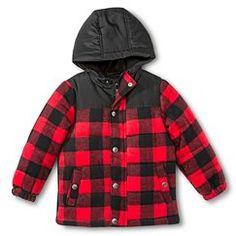 Boys' Plaid Puffer Jacket