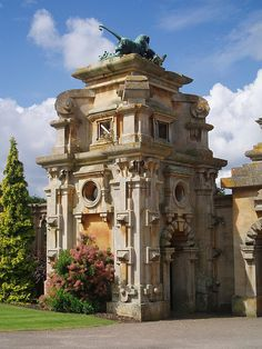 Harlaxton Manor, built in 1837, is a manor house located in Harlaxton, Lincolnshire, England. The manor currently serves as the British campus for the University of Evansville and partners with Eastern Illinois University and Western Kentucky University. Wikipedia | Photo by Ned Trifle on Flickr