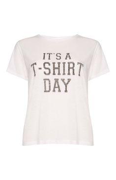 White T-Shirt Day Boxy T-Shirt