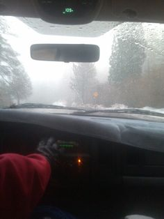 Rainy window mountain pic