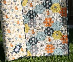 K's room - Organic Quilt Fox Boy Blanket Baby Toddler by SunnysideDesigns2, $144.00
