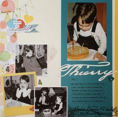 A La Pause: Scrapbooking - Fête de Thierry, Marie-Josée Trudel, Clockworks, ABC-123 Outline Alphabet, Stampin' Up!, SU