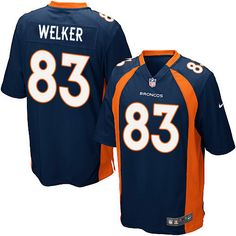 Denver Broncos 83 Wes Welker Lights Out Grey Elite Jersey
