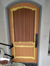 Everything I Create - Paint Garage Doors To Look Like Wood Garage Door Paint, Garage Door Makeover, Garage Doors, Outside House Paint, Woodworking Tutorials, Entry Doors, Dark Wood, Painting On Wood, Tall Cabinet Storage