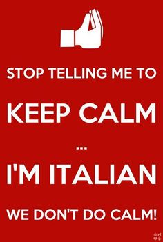 Italian by marriage, Irish, French, and English by heritage- it all works.