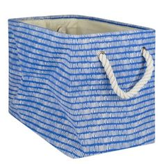 Harriet Bee Rectangle Fabric Bin Colour: Bright Blue, Size: H x W x D Decorative Storage Bins, Fabric Bins, Toy Organization, Luxury Gifts, Mens Gift Sets, Storage Containers, Baby Clothes Shops, Baby Shop, Kids Room