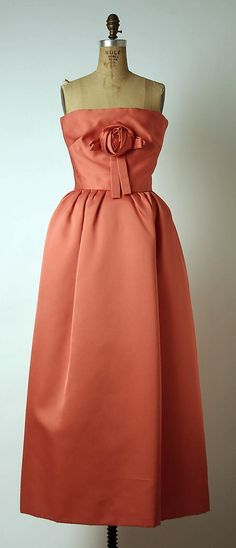 Coral Evening Dress - House of Dior, 1959.     http://sulia.com/channel/vintage-fashion/f/0ae5603a-2101-4be5-a5fd-60597882a13e/?source=pin&action=share&btn=small&form_factor=desktop&pinner=125430493
