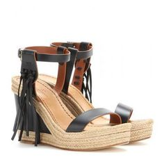 Valentino - Leather wedges #wedges #valentino #women #designer #covetme