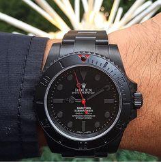 Rolex submariner bespoke custom via Rolex Watches For Men, Fine Watches, Luxury Watches For Men, Cool Watches, Bling Bling, Rolex Cellini, Herren Chronograph, Dream Watches, Rolex Submariner