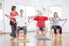 Pilates is one of the greatest physical fitness patterns of the past couple of decades. It is a callisthenic physical fitness regime, much like yoga is. Pilates Training, Pilates Workout, Gym Workouts, At Home Workouts, Band Workouts, Pilates Video, Workout Routines, Chair Exercises, Stretching Exercises