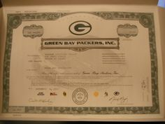 Green Bay Packers stock, baby!!