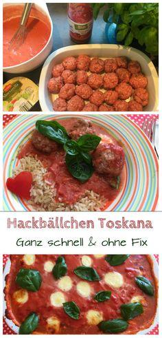Hackbällchen Toskana Rezept mit Mozzarella