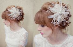 the flower is cute a little too big for me. I am in love with this hair style though... so romantic