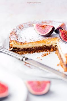 Fig cheese cake with cinnamon Cheesecakes, Fig, Panna Cotta, Sweets, Baking, Ethnic Recipes, Beverages, Dulce De Leche, Gummi Candy