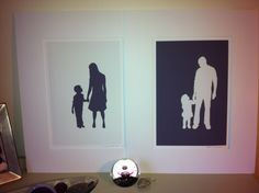 Beautiful silhouette pictures from a family photograph by Christian Dakin Brown - Little Love Art x