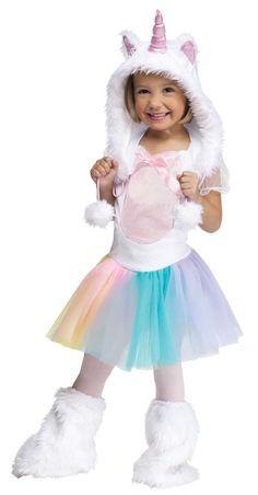 Fun World Costumes Baby Girl's Unicorn Toddler Costume, White, Small