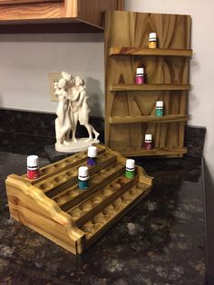 35 Bottle Solid Wood Essential Oil Holder  5 Essential Oil Holder, Essential Oil Set, Essential Oil Storage, Doterra Essential Oils, Essential Oil Diffuser, Young Living Oils, Young Living Essential Oils, Woodworking Furniture, Woodworking Projects