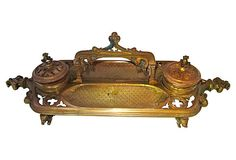 Antique French Bronze Inkwell on OneKingsLane.com