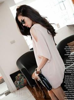 Black/Pink Off Shoulder Fake Two Pieces T-Shirt