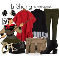 Shang // green dress underneath / black lace over shirt / red scarf / black jewelry / black boots