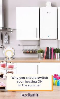 Boilers can seize up if they're not used regularly, but turning your heating on for 10 to 15 minutes every week will keep it running smoothly and in good health. Marble Jar, Thermostats, Utensil Holder, Heating Systems, Home Hacks, Kitchen Utensils, Country Style, Beautiful Homes