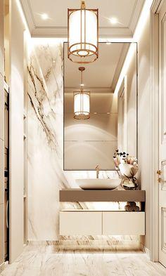 Home Room Design, Home Interior Design, House Design, Neoclassical Interior Design, Marble Interior, Interior Ideas, Bad Inspiration, Bathroom Inspiration, Bathroom Ideas