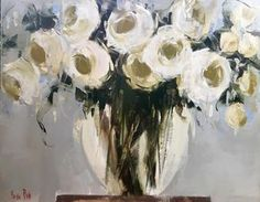 Yellow Roses ~ by Nicole Pletts Fine Art Abstract Flowers, Watercolor Flowers, Impressionism Art, Impressionist, Cottage Art, Grey Art, Pastel Art, Acrylic Art, Art Images