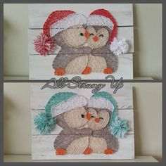 Thanks for looking. Penguin christmas String Art, Made by hand with love in NSW, Australia. Find the rest of my pictures at the following places. Find my website at www.allstrungup.com.au Find me on Instagram at https://www.instagram.com/all_strung_up/ Find me on Facebook at https://www.facebook.com/All-Strung-Up-915873695199667/?ref=hl