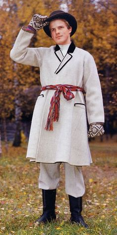 Latvian traditional men's costume #Latvia #mittens #outfit