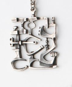 A pendant designed by Taisto Palonen for Kulateollisus Ky With stamped maker's mark and Finnish hallmarks for Turku, 1970, Sold for £168 inc. premium
