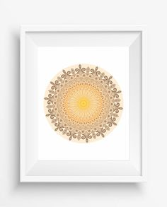 Brown Mandala,Mandala Art Print,Zen, meditation,home decor,digital prints,Mandala flower decoration,jpeg,instant dowload,Wall Printable