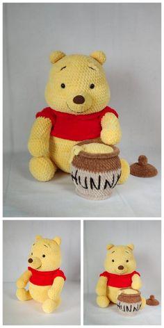 Crochet Bee, Crochet Baby Toys, Crochet Teddy, Crochet Animals, Crochet Disney, Crochet Dolls Free Patterns, Amigurumi Patterns, Teddy Bear Knitting Pattern, Crochet Bunny Pattern